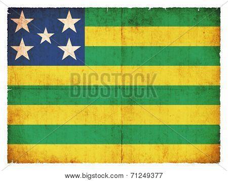 Grunge Flag Of Goias (brazil)
