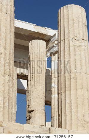Acropolis Of Athens. Peisistratus Portico. Greece