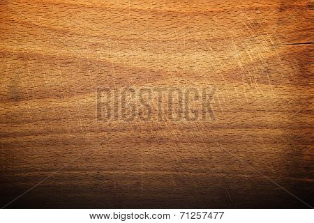 Worn Butcher Block Cutting And Chopping Board As Background