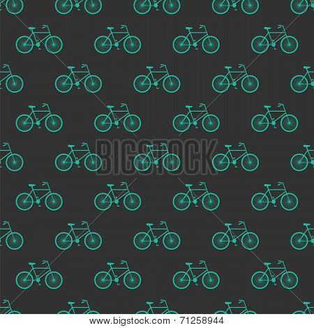 Bicycle seamless pattern background. Bike vector illustration poster