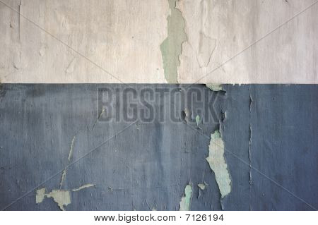 Flaking Two Tone Painted Wall Texture