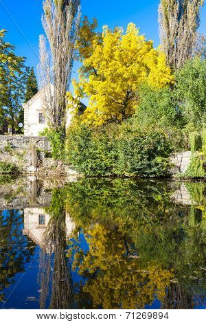 autumnal pond, Libochovice, Czech Republic