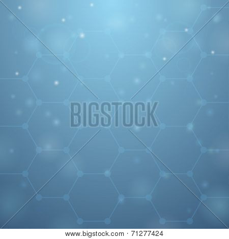 Blue Hive Background