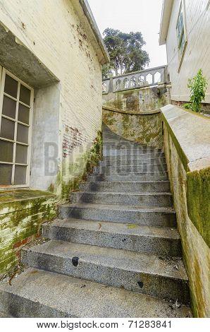 Alcatraz Island Staircase, San Francisco, California