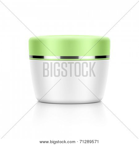 Cosmetic packaging, cream, powder or gel jar template for your design. Vector. poster