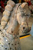 Close up of antique merry go round horse poster