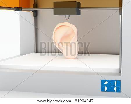 3d printed human ear