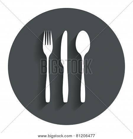Fork, knife, tablespoon. Cutlery set.