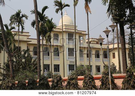 KOLKATA, INDIA - 14th FEBRUARY 2014: Belur Math, headquarters of Ramakrishna Mission, founded by philosopher Vivekananda