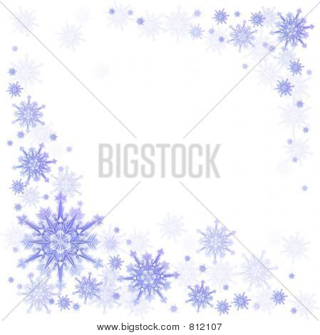 Snowflake on a blue