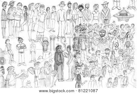 People Drawing