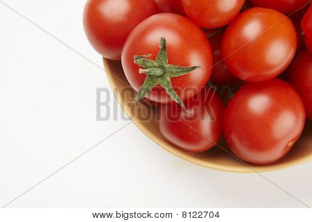 Red and yellow paprika isolated on white.
