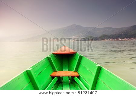 Boat In Pokhara Lake