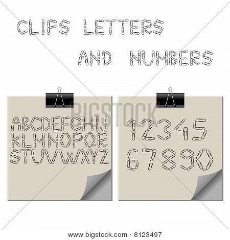 Paper Clips Alphabet