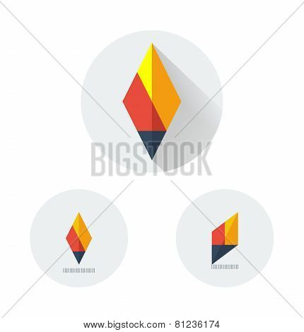 flat vector logo for fire torch