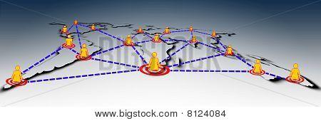 World social global network