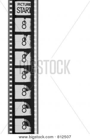 Movie Leader Film Strip (black and white)