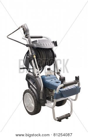 Mini high pressure washer  isolated under the white background
