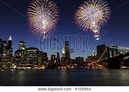 Downtown Manhattan Fireworks