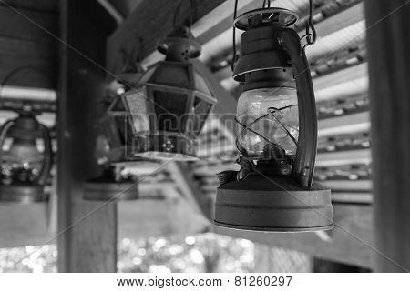 antique storm lantern