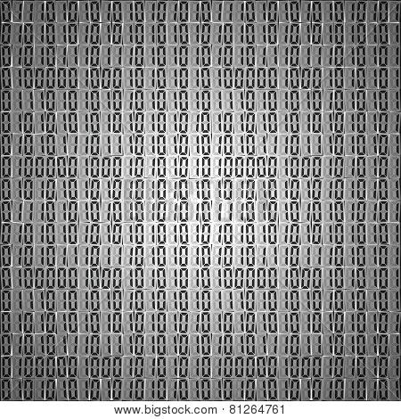 Flat binary code screen table cypher