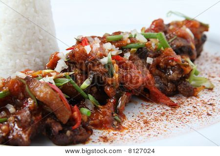 beef oxtail asian food