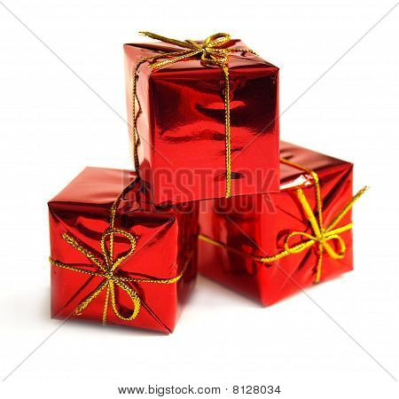 Red Boxes With Presents