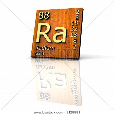 Radium Form Periodic Table Of Elements - Wood Board