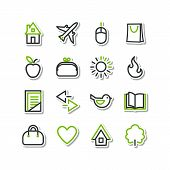 Set - miscellaneous icons - line series . A vector. poster