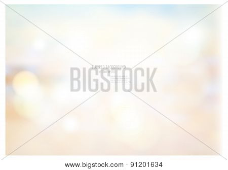 Vector Illustration Of Soft Colored Abstract Blurred Light Background Layout Design , Can Be Use For