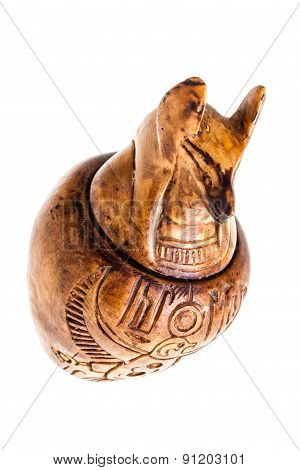 Canopic Jar Over White