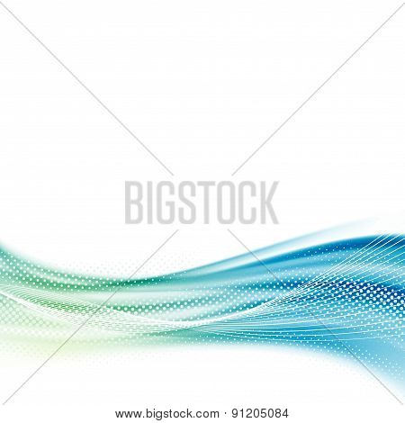 Bright Smooth Satin Swoosh Wave Background Template
