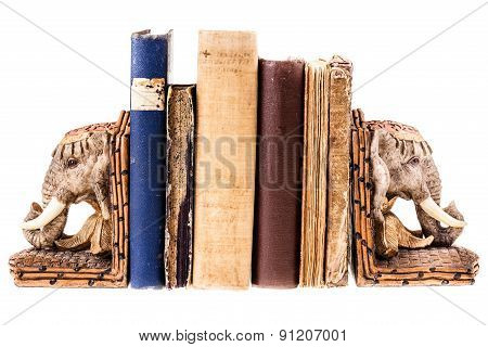 African Elephant Bookends