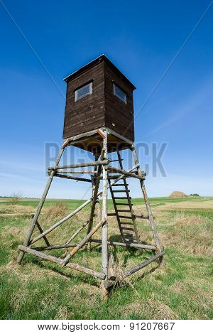 Wooden Hunters High Seat, Hunting Tower