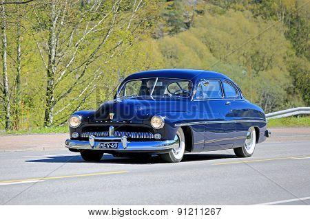 Classic Mercury Car On The Road