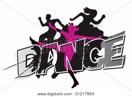 Modern Dance Grunge Background