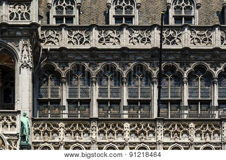 Facade Of Maison Du Roi (the King's House Or Het Broodhuis) Located On Grote Markt