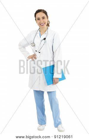 Female Doctor, Full Length Portrait