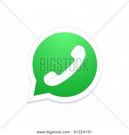 Vector modern phone icon in bubble speech
