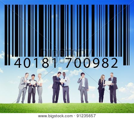 Bar Code Identity Marketing Data Encryption Concept