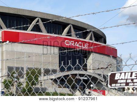 OAKLAND, CA - NOVEMBER 18: Exterior View Oracle Arena at Oakland Raiders Football Game 2012