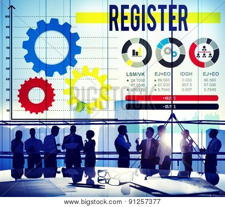 Register Registration Application Enlist Concept