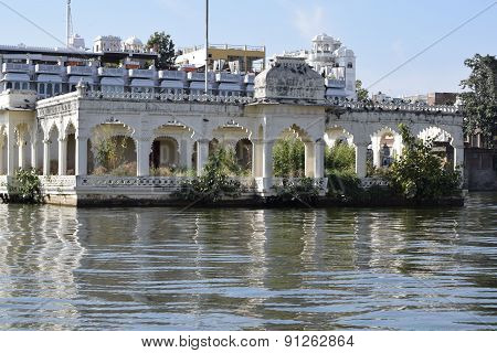 Building in the water in Udaipur India