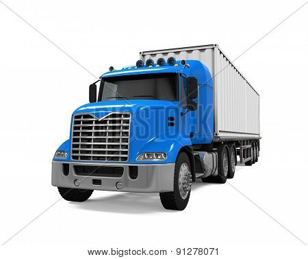 Cargo Delivery Truck isolated on white background. 3D render poster