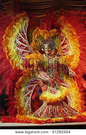 Dancers At Samba Show In The Plataforma Rio De Janeiro