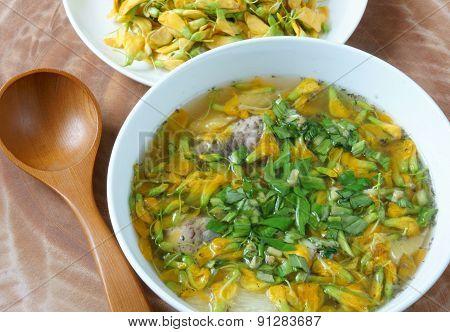 Vietnamese Food, Sour Fish Vegetable Soup