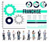 Franchise Business Marketing Merchandise Franchising Concept poster