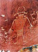Native American Indian Fremont Petroglyphs Sandstone Mountain Capitol Reef National Park Torrey Utah poster