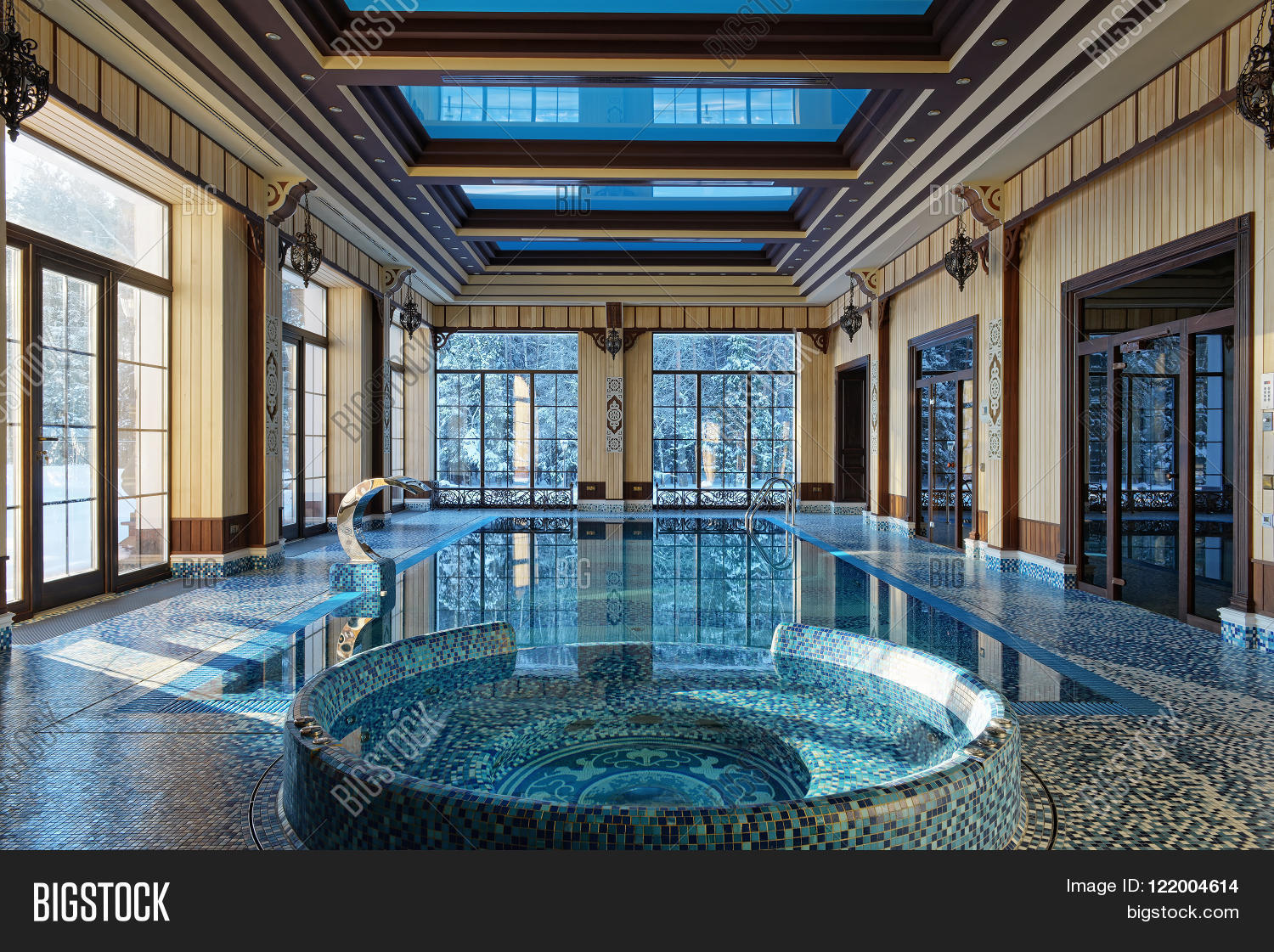 Interior design home indoor pool image photo bigstock for Interior pool house designs