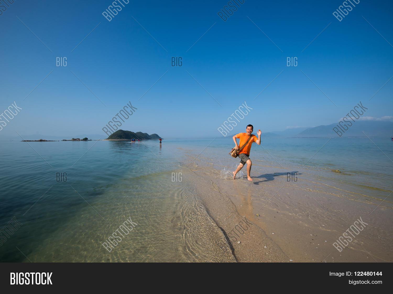 Young Tourist Enjoy On Image Photo Free Trial Bigstock